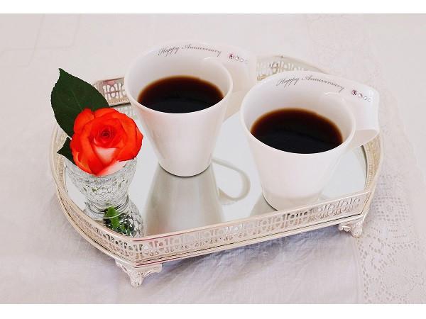 Anniversary pair mug cups with Swarovski by
